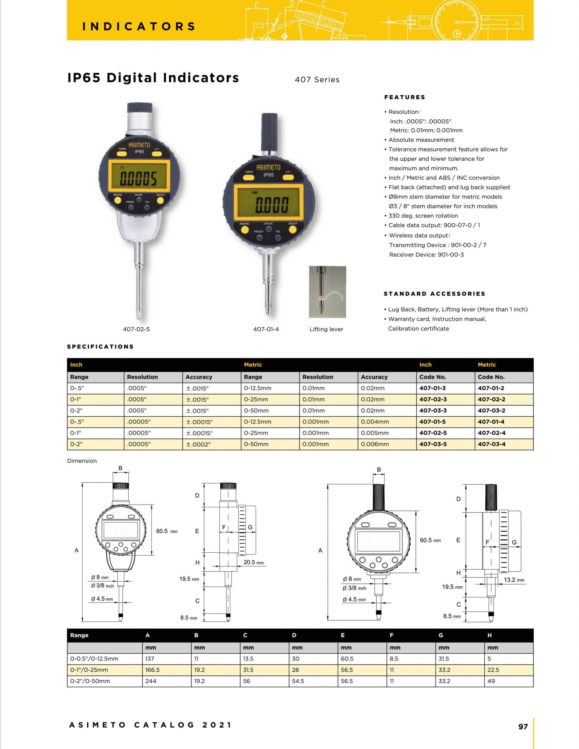 کاتالوگ ساعت اندیکاتور دیجیتال آسیمتو asimeto