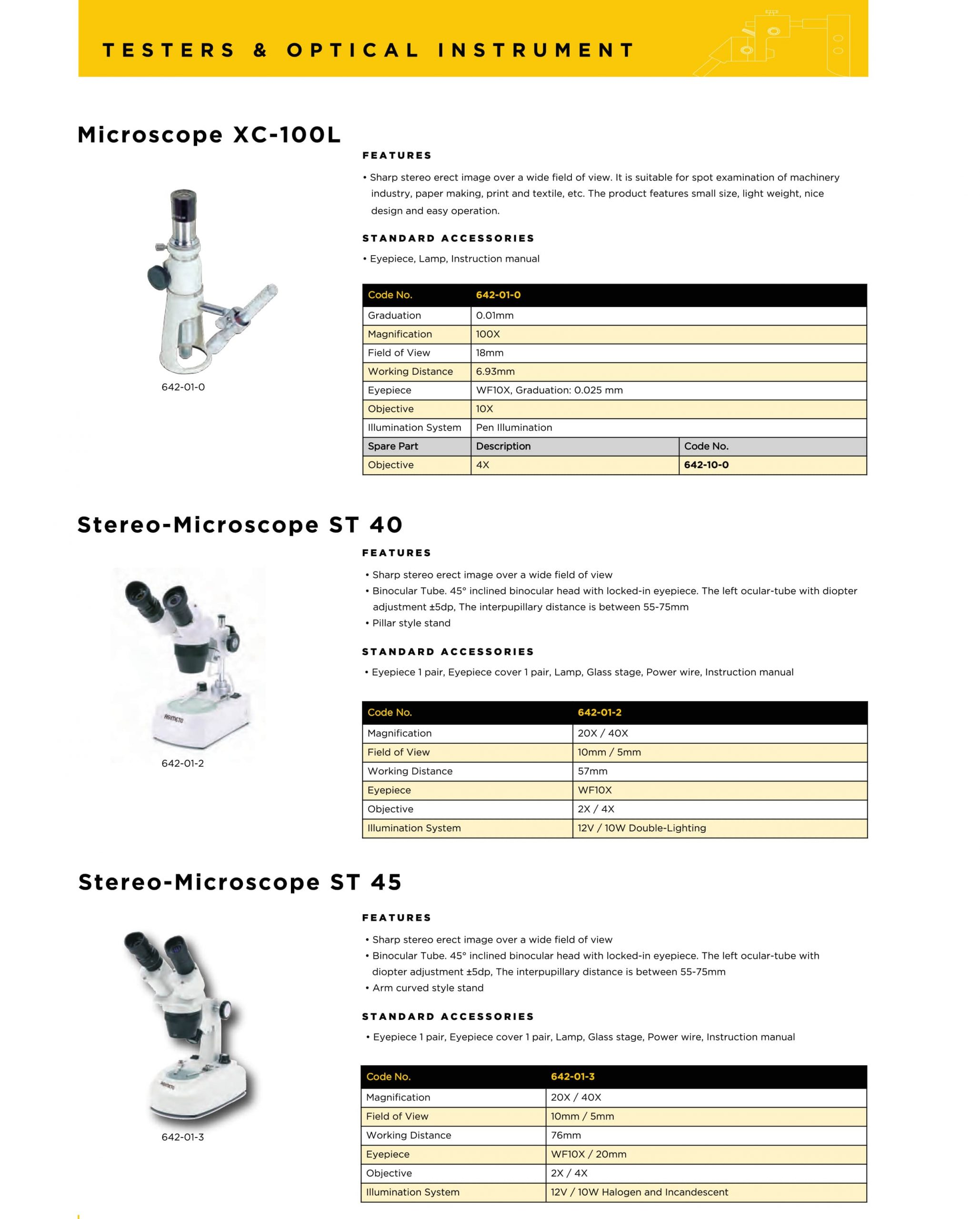 کاتالوگ میکروسکوپ آسیمتو asimeto