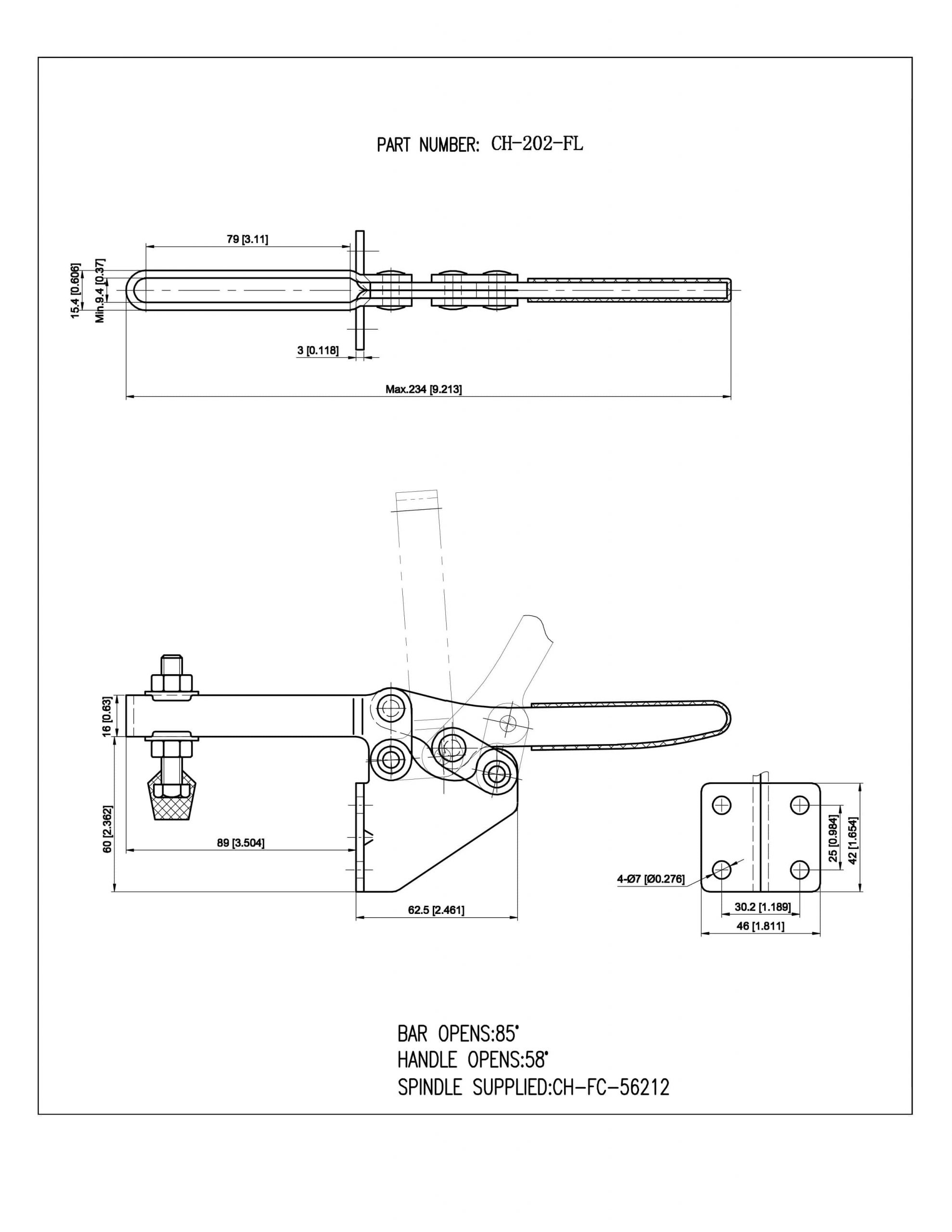 کاتالوگ کلمپ دسته افقی CH-202-FL تک
