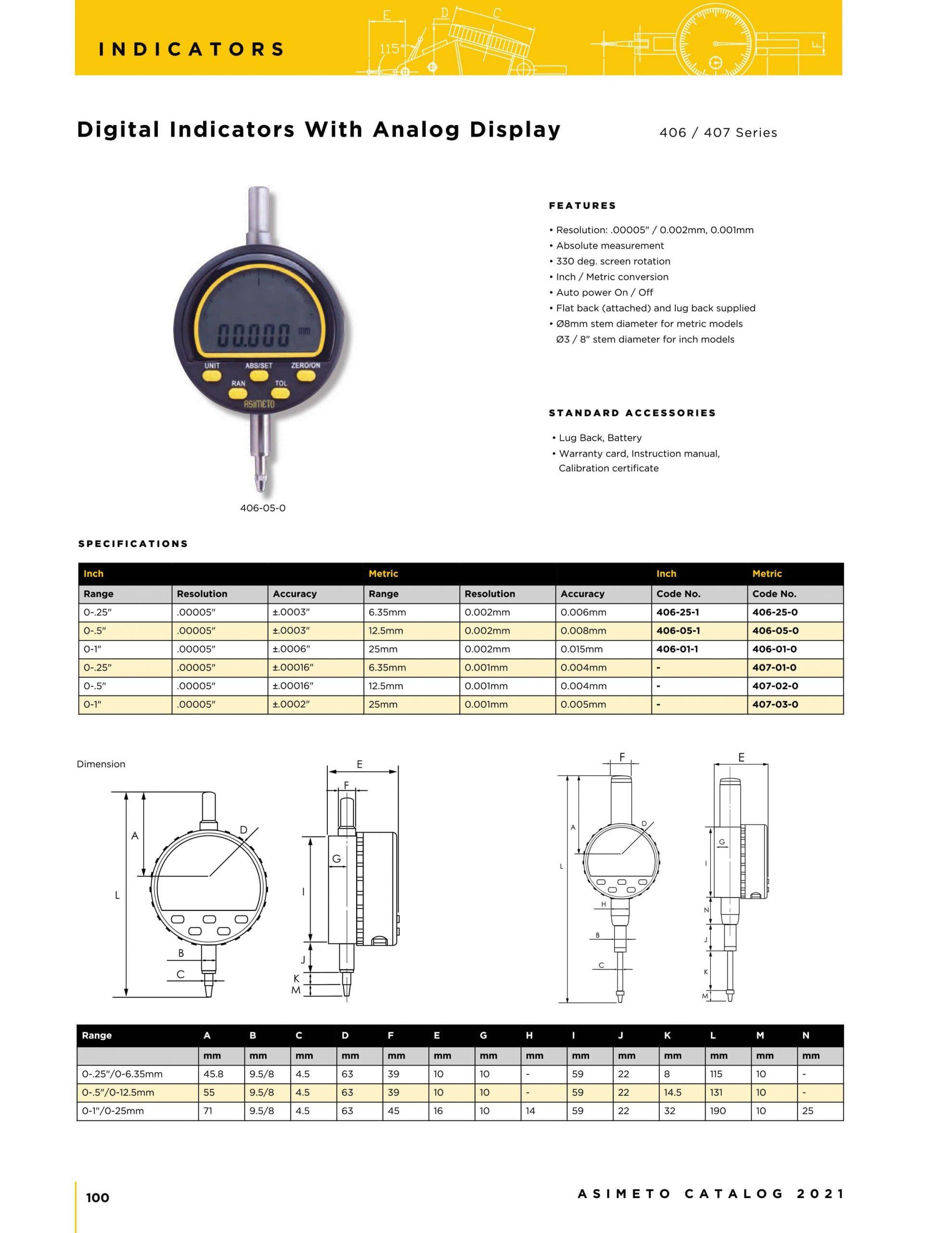 کاتالوگ ساعت اندیکاتور دیجیتال با قابلیت نمایش آنالوگ آسیمتو asimeto