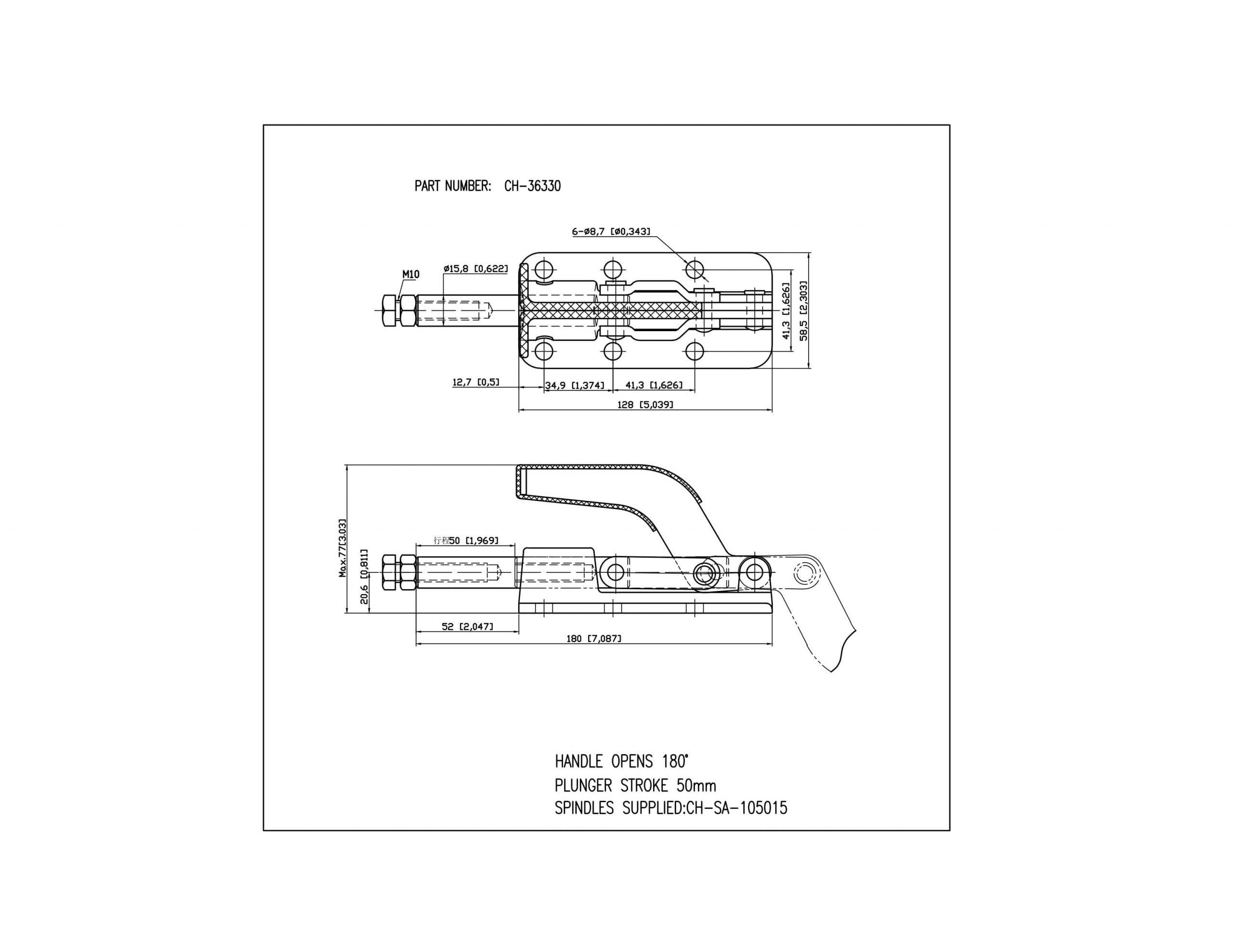 فروش کلمپ فشاری افقی clamptek CH-36330
