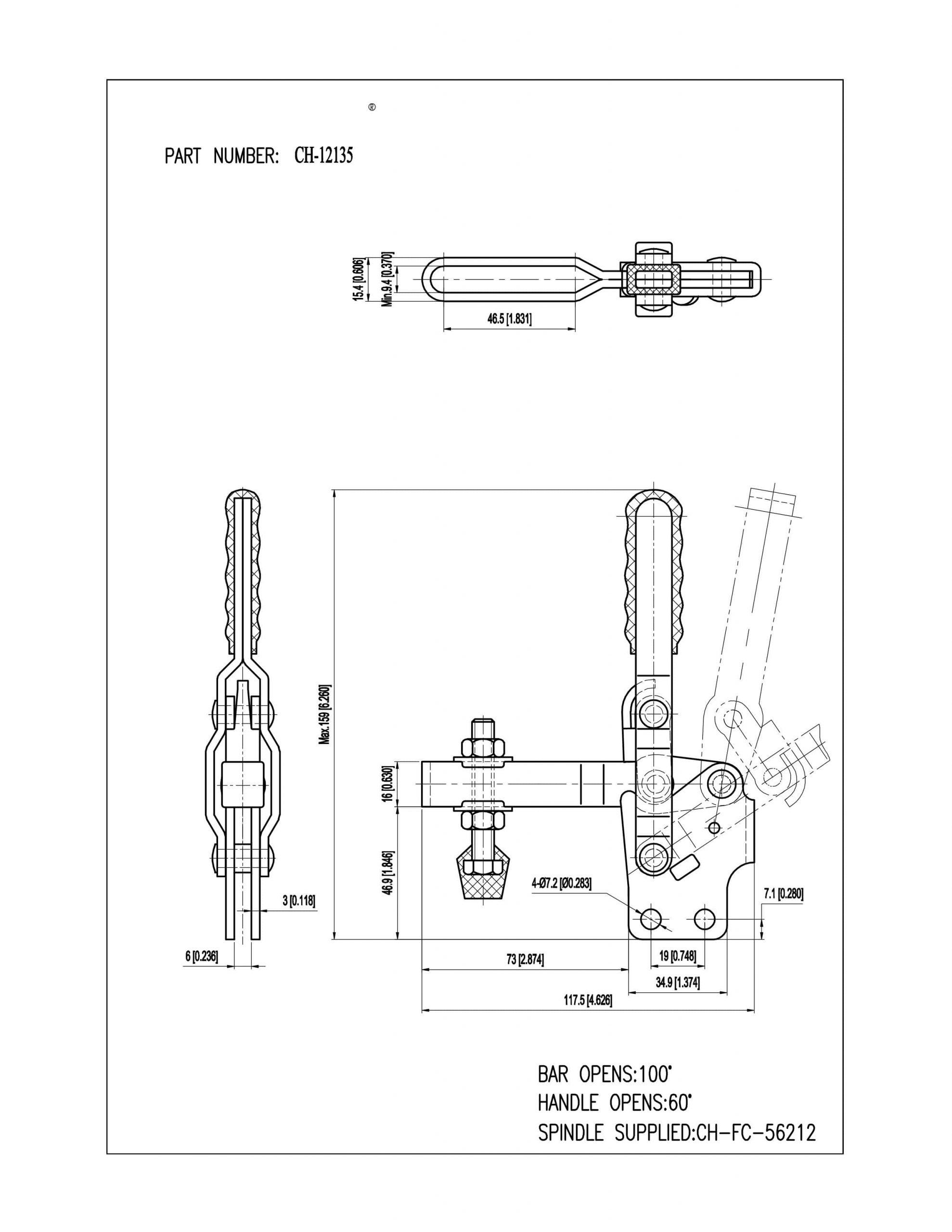 فروش کلمپ دسته عمودی تک CH-12135