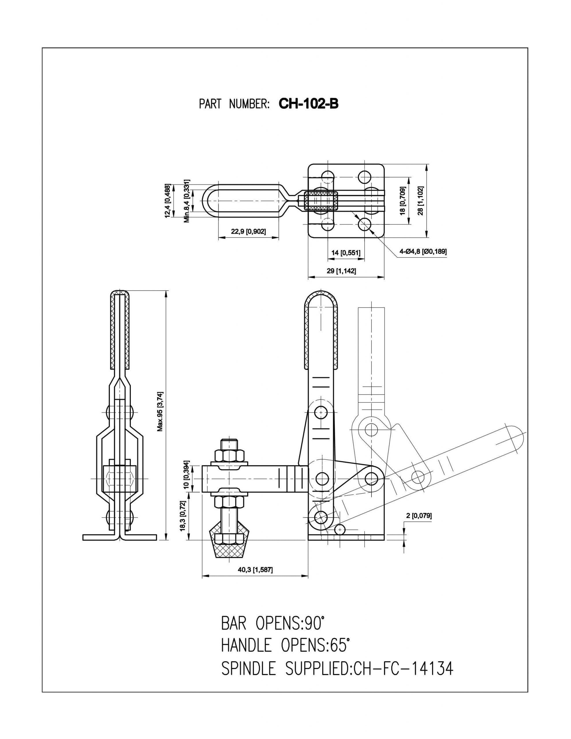 فروش کلمپ دسته عمودی CH-102-B