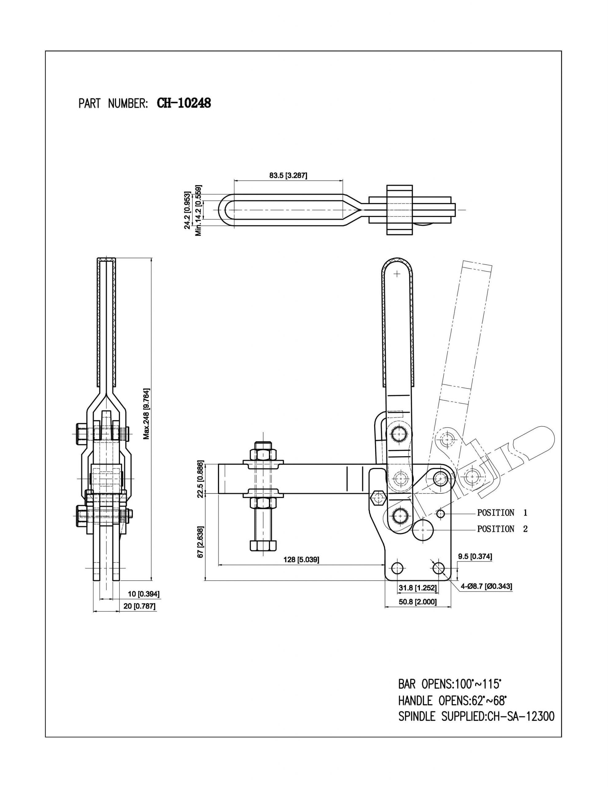 فروش کلمپ دسته عمودی CH-10248