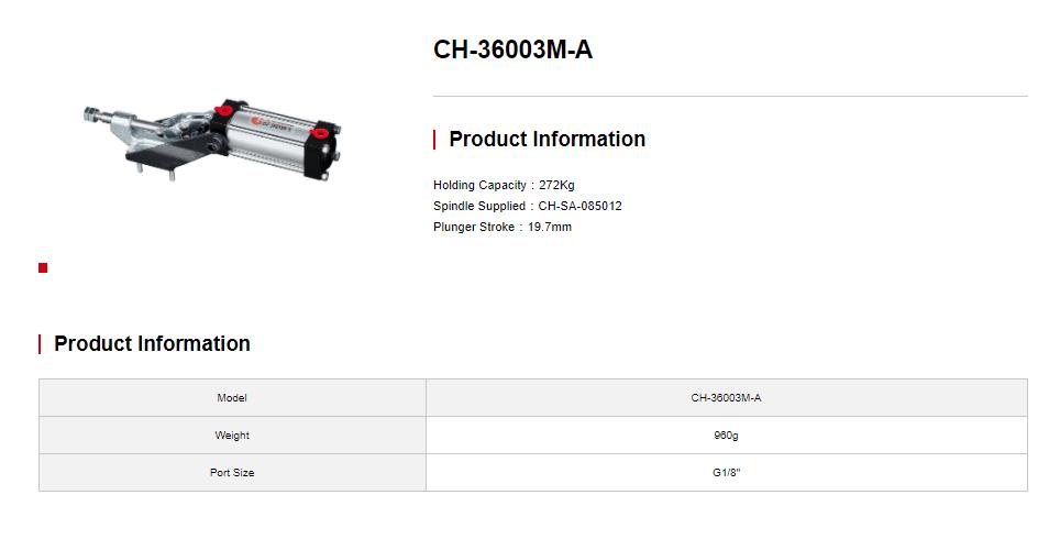 کاتالوگ کلمپ بادی CH-36003-A clamptek