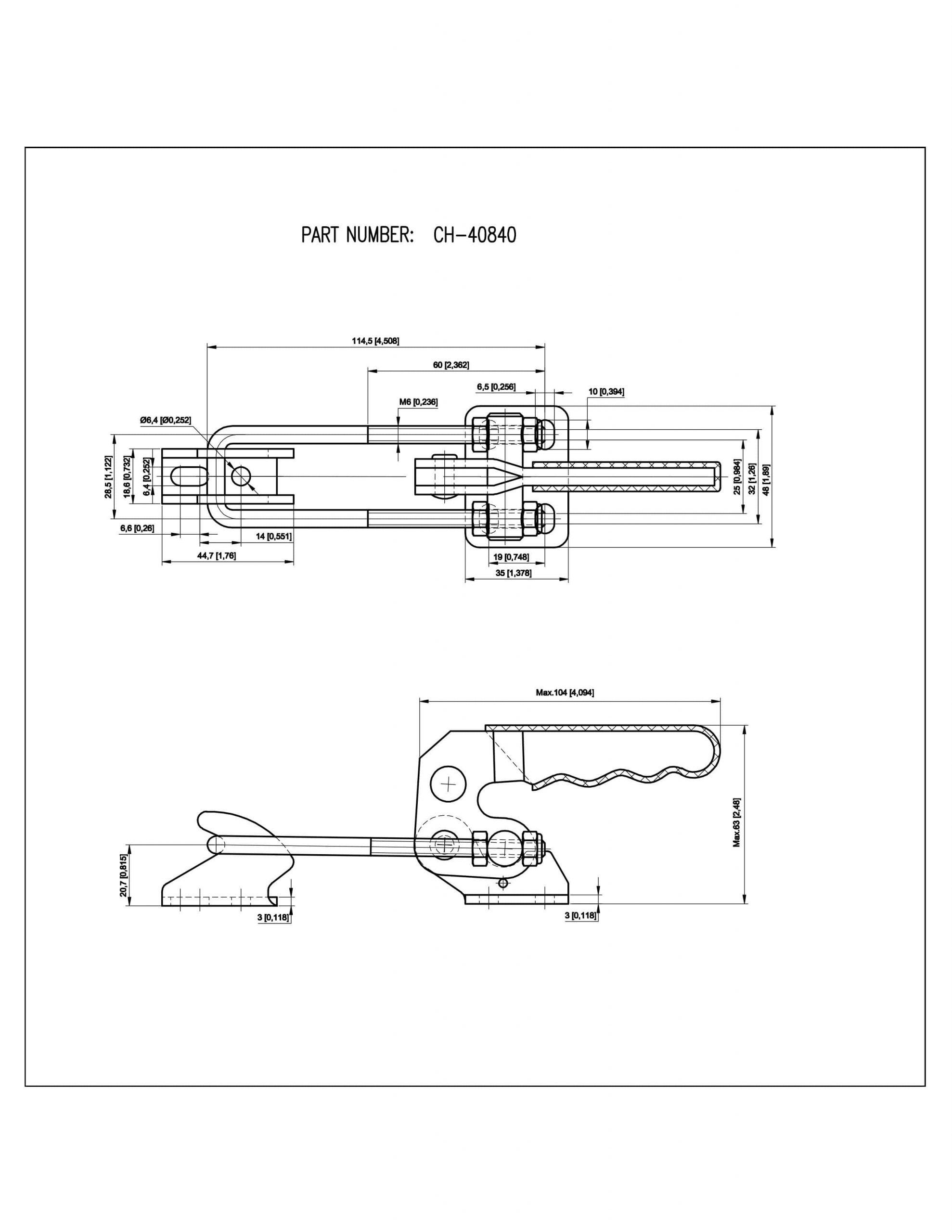 کاتالوگ کلمپ کششی CH-40840 Clamptek
