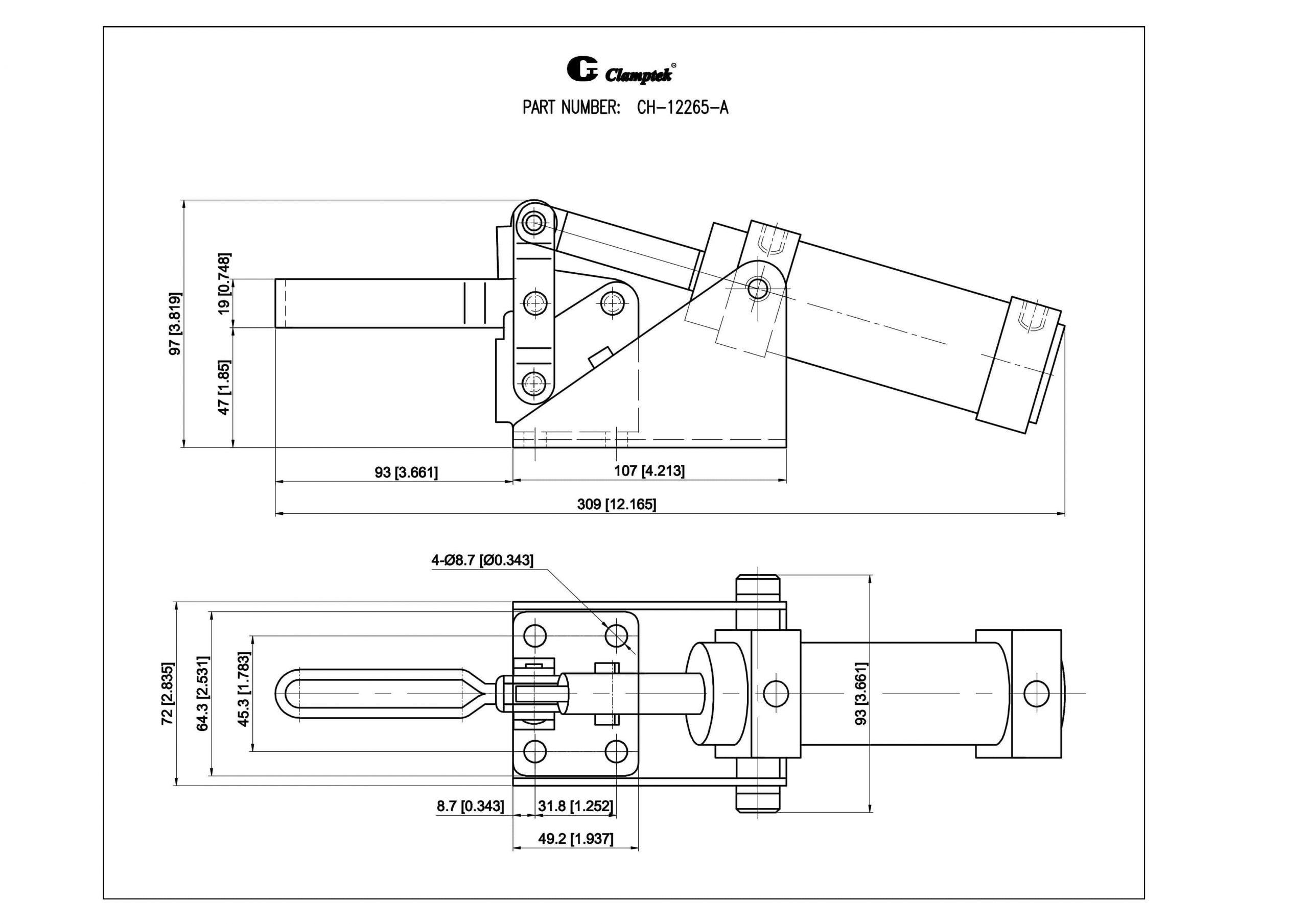 کاتالوگ کلمپ بادی CH-12265-A Clamptek